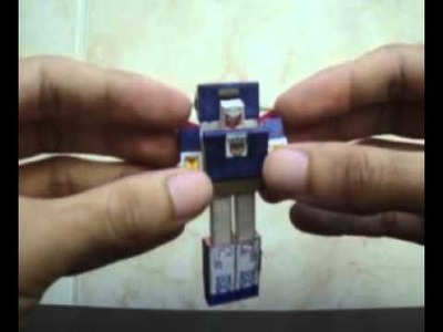 Tiny Autobot Car Tracks Season 1 made in paper