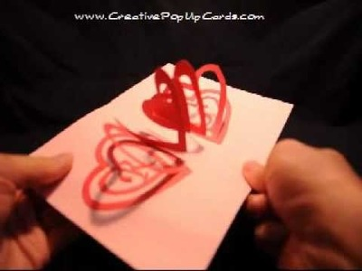 Valentine's Day Pop Up Card: Spiral Heart