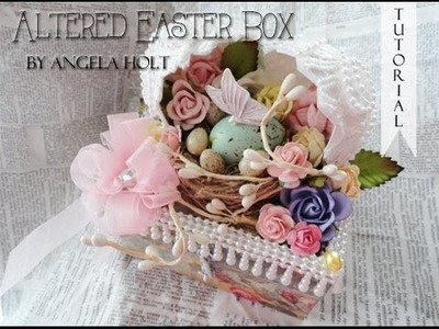 Altered Easter Egg Box FOR SALE