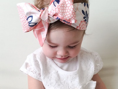 Baby Headwrap tutorial. How to tie a baby Headwrap.