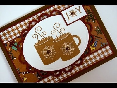 Christmas Cocoa Card- Christmas Card Idea- Stamping Technique