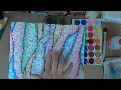 Creative Art Journaling Tutorial - Optical Art