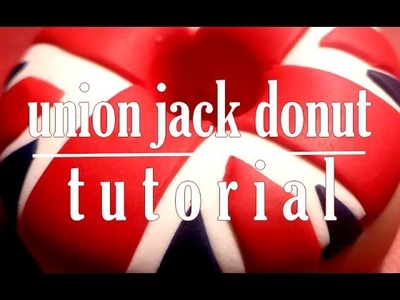 Donut Union Jack l Polymer clay Fimo miniature tutorial