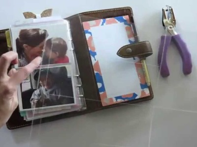 Fold out photo pocket for your Filofax