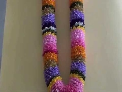 Garland with multicolour satin ribbons