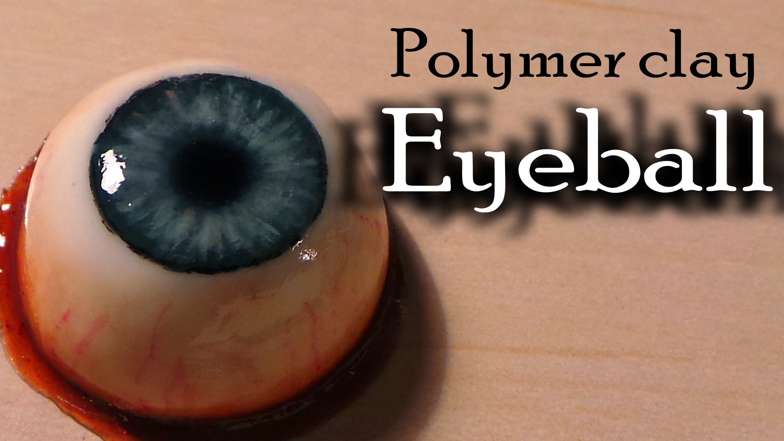 Halloween; Polymer clay eyeball (bloody eye ring)