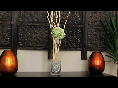 How to Decorate With Curly Willow Branches & Crystals : Decorating With Glass