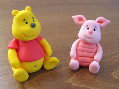 How to do fondant Winnie the Pooh - step by step tutorial