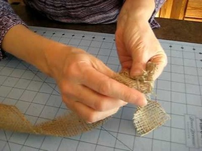 How to Fold a Burlap Rose with CrystelleBoutique.com