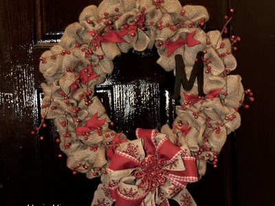 How to Make a Burlap Wreath for Christmas - EASY AND INEXPENSIVE!