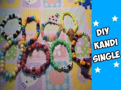 How to Make a Kandi Bracelet - [www.gingercande.com]