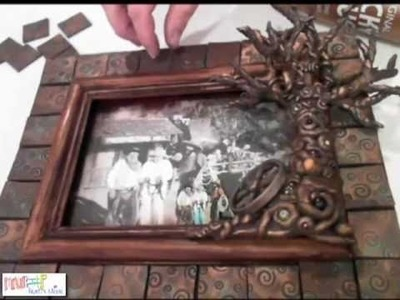 How to Make a Polymer Clay Tree on Frame by Candace Jedrowicz