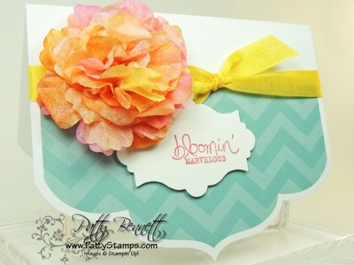 How to make a Stampin Up Creped Paper Flower