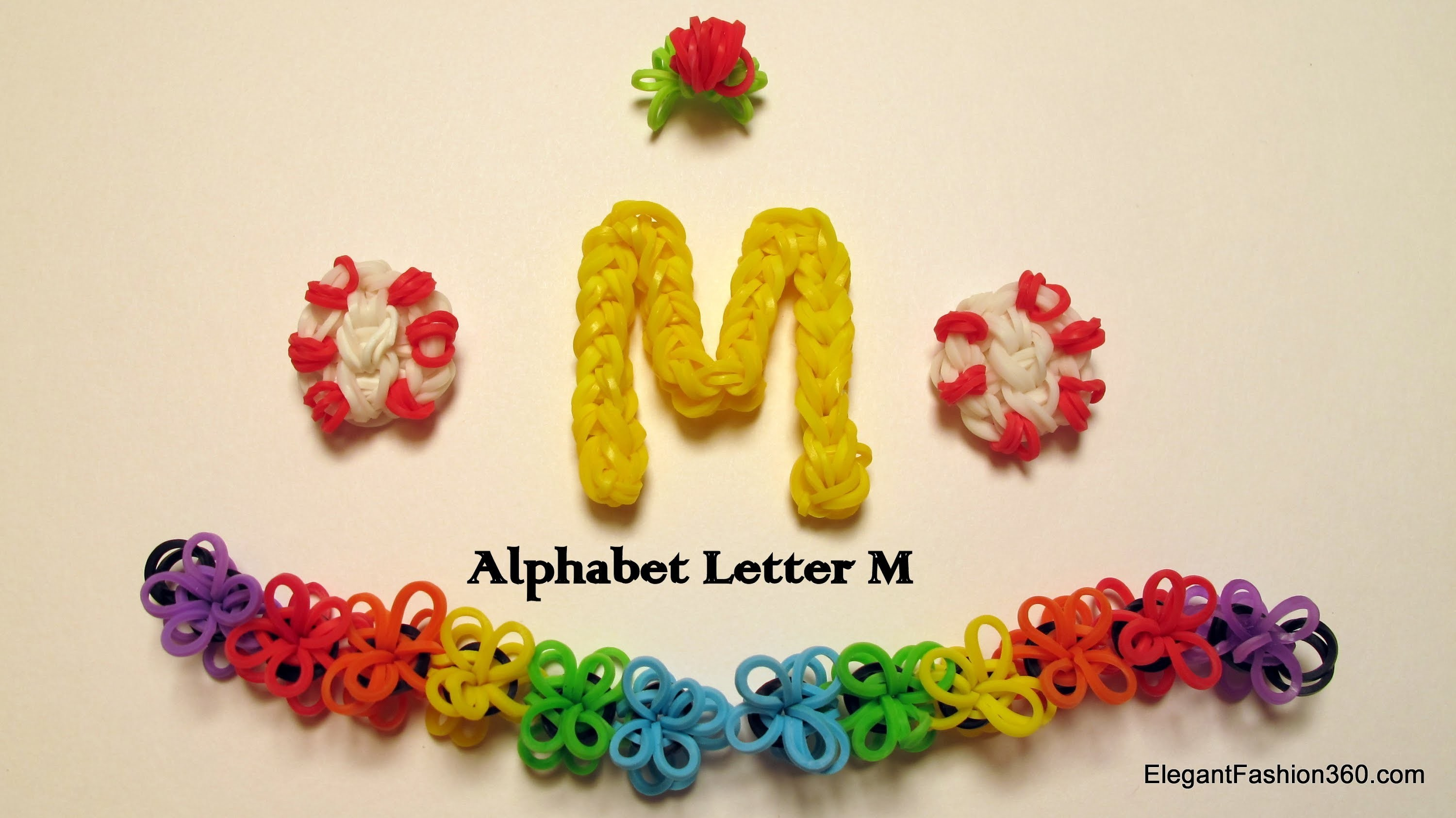How to Make Alphabet Letter M Charm on Rainbow Loom