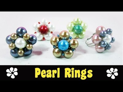 How to make easy daisy pearl rings ☮ - EP