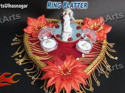 HOW TO: make Engagement. Wedding Ring Platter - JK Arts 484