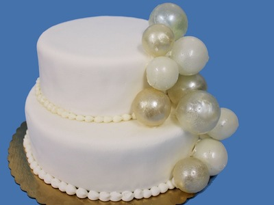 How to make gelatin bubbles for wedding cakes