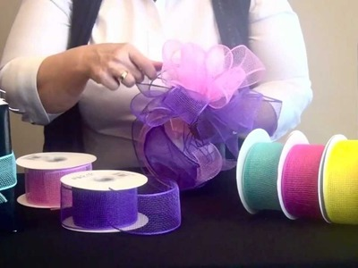 How to Make Mini Mesh Bows with 2 Colors