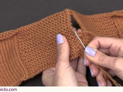 How to Seam on Garter Stitch