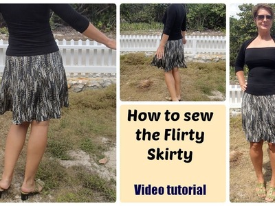 How to sew the Flirty Skirty skirt
