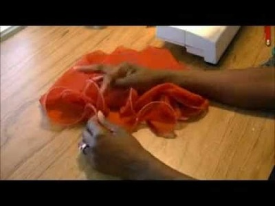 Making A Fishing Line Curly Hem