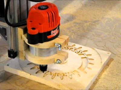 Midnight Robotics DIY CNC carving a Rotary Club sign