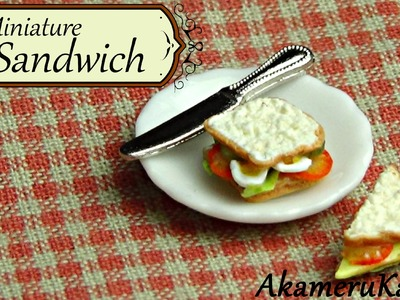 Miniature Sandwich tutorial - polymer clay dollhouse miniature