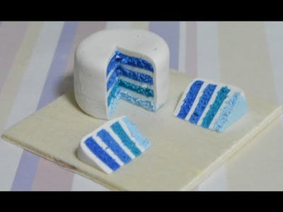 Ombre Blueberry Cake Tutorial (Polymer Clay)