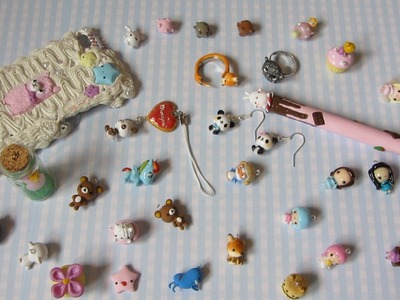 Polymer Clay Charm Update #13 - Rings, Kawaii Characters & More!