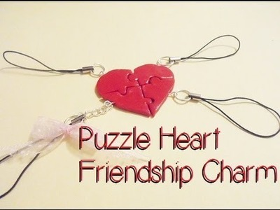 Puzzle Heart Friendship Charm |Polymer Clay tutorial [HD]