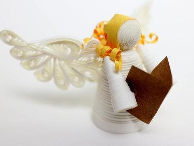 Quilled Christmas Angel - Ange de Noël en quilling