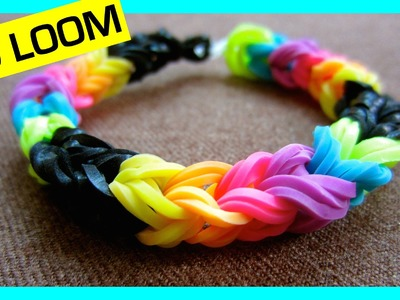Rainbow Loom Bracelet Triple Link Fishtail without a Loom. using 2 Pencils