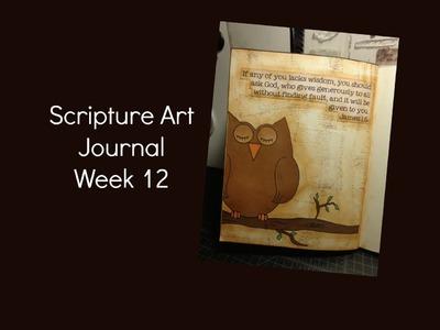 Scripture Art Journal Week 12 {James 1:5}