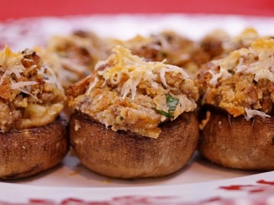 Stuffed Mushrooms Recipe: How to Make Stuffed Mushrooms - Diane Kometa - Dishin With Di  # 159