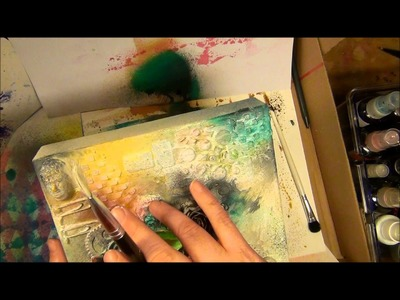 TUTORIAL  How to make a Finnabair inspired mixed media canvas - fast forward mode