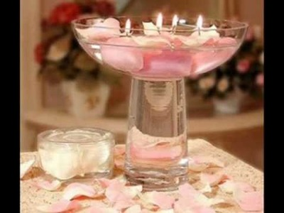 Wedding floating candles centerpieces.wmv