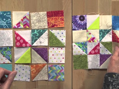 Addicted to Scraps with Bonnie Hunter for Quiltmaker March.April 2015
