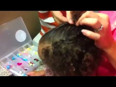 Biracial Hair 101: How to Style: Twist Back Bangs (Toddler or any length Natural Hair)