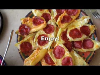 Cooking an easy delicious appetizer