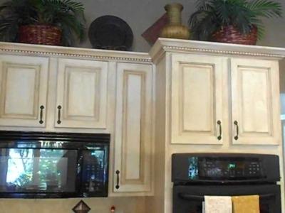 Crackle finish on kitchen cabinets, also china crackle, new backsplash, new granite