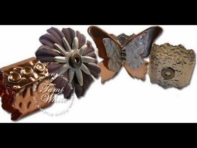 Creating Metal Napkin Ring Holders by Tami White