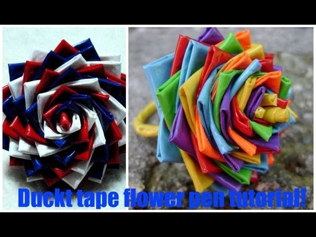 DIY-How to make a duct tape flower pen {HD}