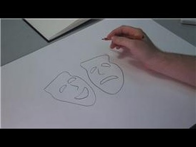 Drawing Lessons : How to Draw a Drama Mask