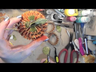 Fall Project Series #10: Rosette Floral Die -Funky Punkins and Quirky Turkey