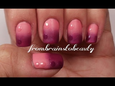 Gradient Matte Nail Tutorial | Pink & Purple