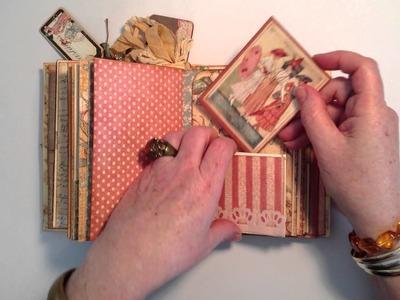 Graphic 45 Ladies Diary Journal.Mini Album