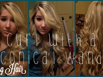 ✧How To Curl with a Conair Conical Wand✧   LONG hair