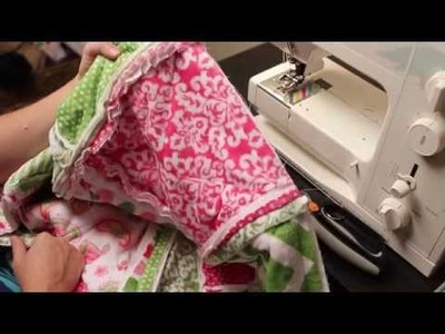 How to cut a rag quilt