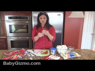 How to Make a Candy Cane Snowman - Baby Gizmo