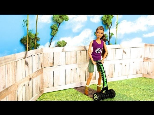 How to Make a Doll Reel Push Lawn Mower - Doll Crafts